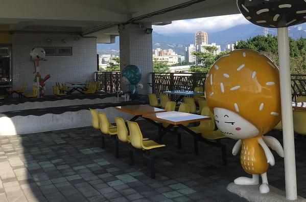 台北市児童新楽園・屋外飲食スペース