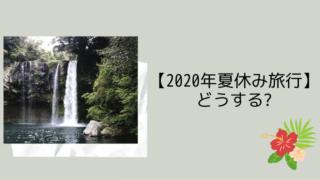 【2020年夏休み旅行】どうする