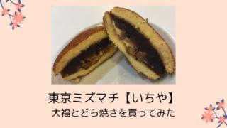 東京ミズマチ【いちや】アクセスは?大福とどら焼きを買ってみた