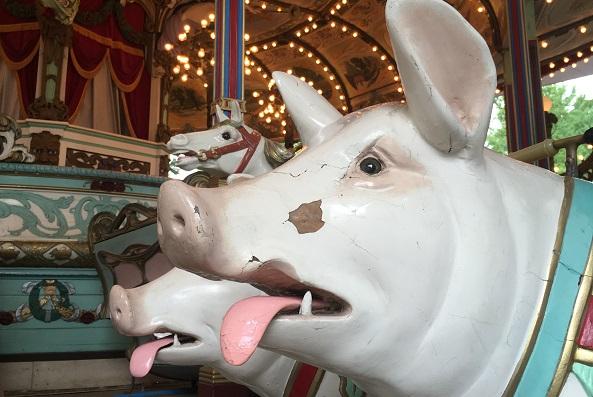 としまえん・カルーセルエルドラドの豚