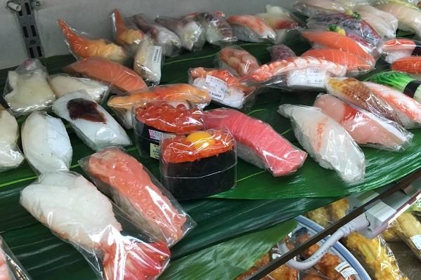 まいづる本店・食品サンプル寿司