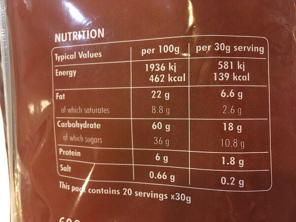 コストコチョコレートクレープ・カロリー成分表