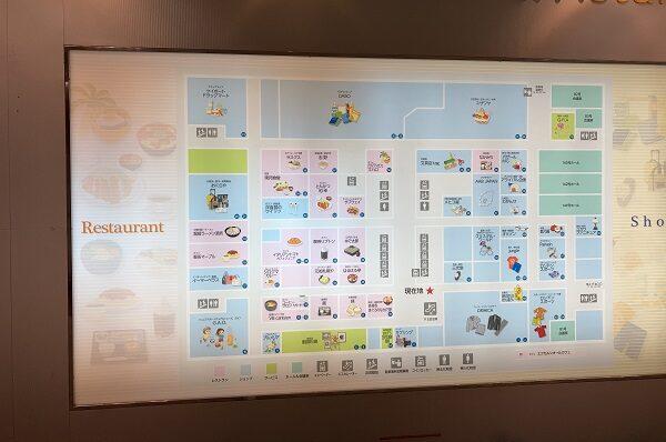 スポーツ用品店GAO・五反田TOCビル地下1階案内図