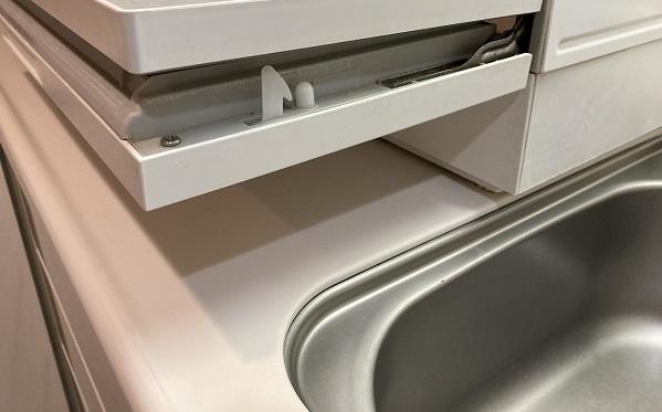 食洗器の置き場がない・食洗器を開けた状態